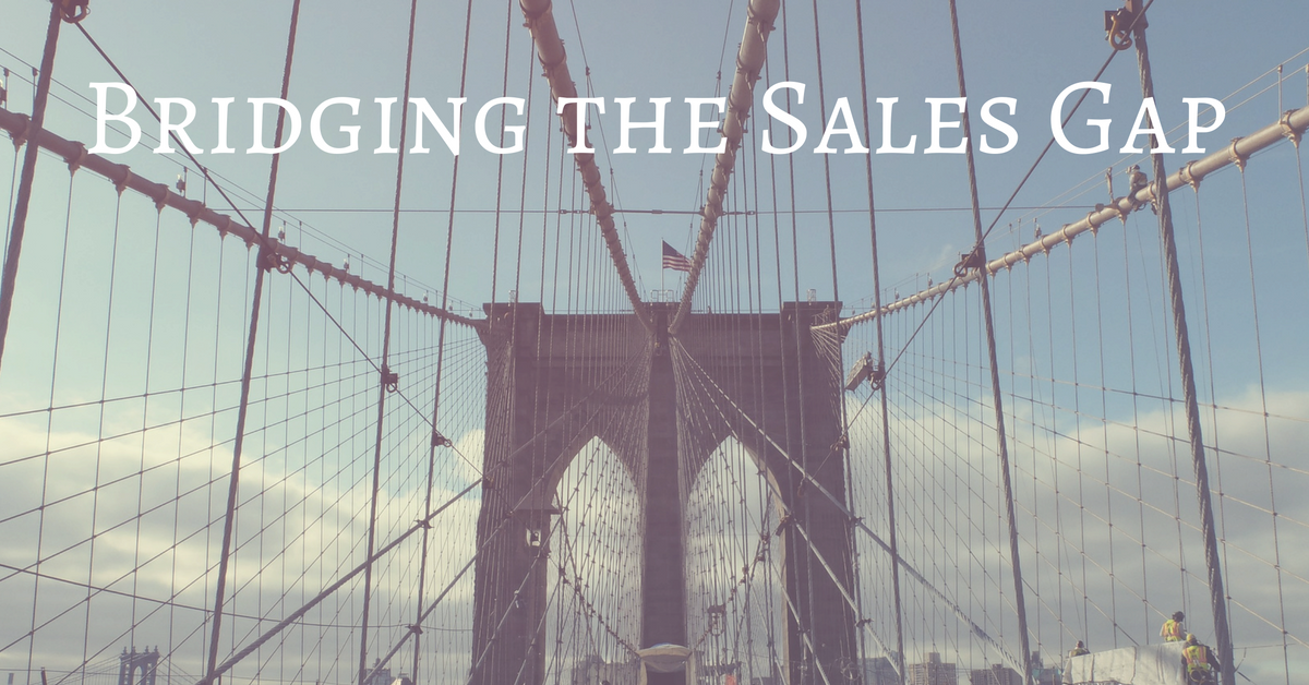 bridging the sales gap with consistent messaging